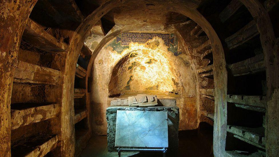 Early Christian mosaics and frescoes still remain at the tomb of St Gaudiosus (Credit: Sergio Siano)