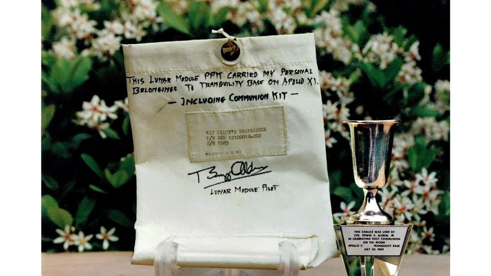 Aldrin's communion cup made its way back to Earth (Credit: David Frohman/Peachstate Historical Consulting Inc)