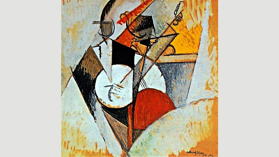Albert Gleizes' painting Composition Pour Jazz, from 1915, shows how quickly jazz became an idea that inspired artists in other media (Credit: The Guggenheim, New York)