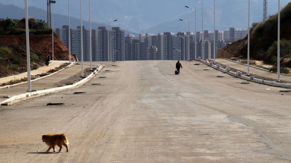 Large urban areas were left unoccupied when the expected rush of inhabitants never appeared (Credit: Getty Images)