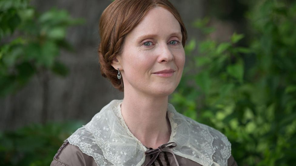 Sex and the City's Cynthia Nixon plays Emily Dickinson in Terrence Davies' new film of the poet's Life, A Quiet Passion (Credit: Alamy)