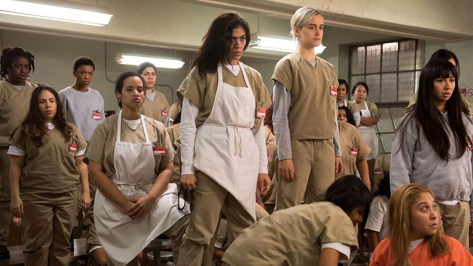 Producer Jane Espenson sees elements of Buffy the Vampire Slayer in shows like Orange Is the New Black, which brings humour into very dark situations (Credit: Netflix)
