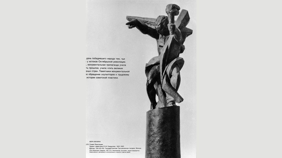 Vera Mukhina's Flame of the Revolution was never finally realised, but the designs remain and a scaled-down version can be found in the Tretyakov Gallery in Moscow (Credit: Alamy)