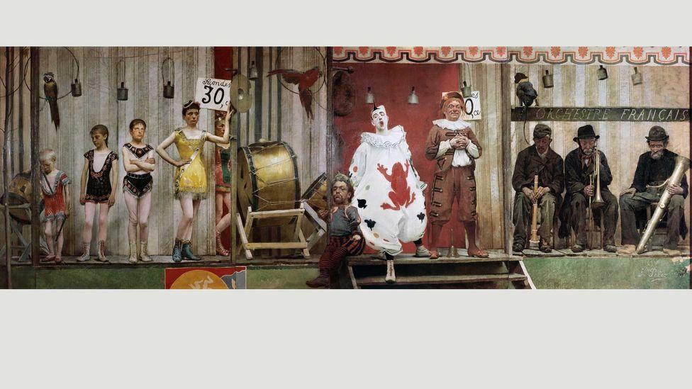 Fernand Pelez's Grimaces and Misery – The Saltimbanques shows a troupe of tired, overworked entertainers (Credit: Petit Palais, Musée des Beaux-Arts de la Ville de Paris)
