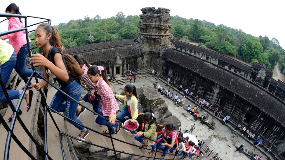 Because of the Khmer Rouge presence nearby through the '90s only a few thousand people would visit Angkor Wat a year at that time – millions now visit annually (Credit: Alamy)
