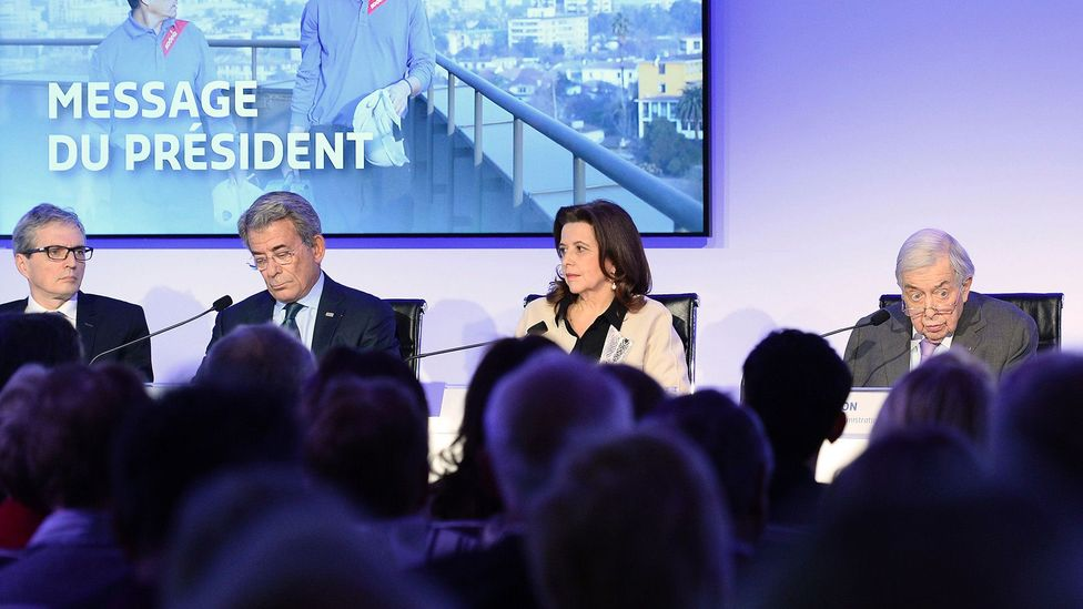 Board members of French food services group Sodexo, which is adopting English as an official language for leadership teams by the end of the year (Credit: Getty Images)