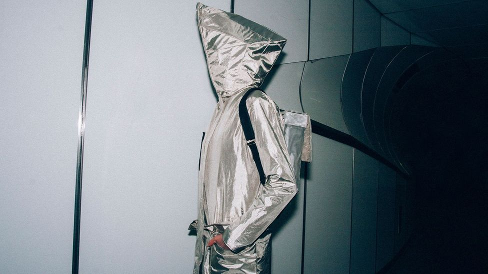 The Anti-Surveillance Coat acts like a sartorial Faraday cage, rendering computer chips in bank and ID cards unreadable (Credit: Project KOVR)