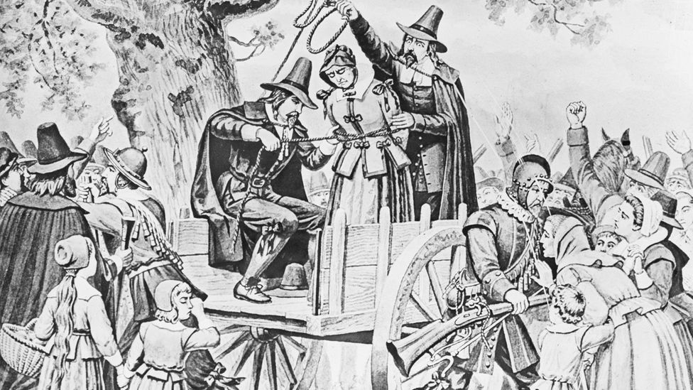 Bridget Bishop became the first victim of the Salem Witch Trials. Today, we can guess that her 'curse' was really a misunderstood case of sleep paralysis (Credit: Getty Images)