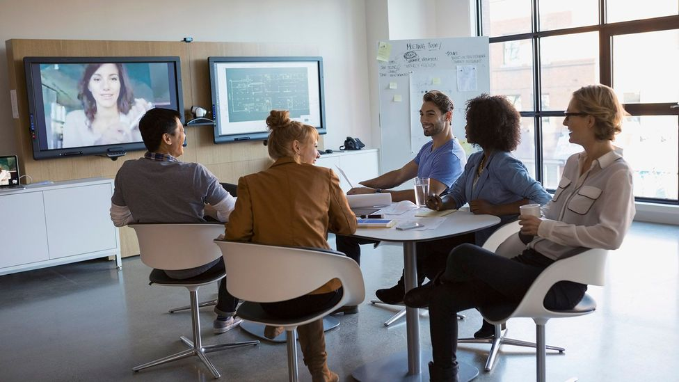 The growing prominence of video conferencing means even working from home requires presenting skills (Credit: Getty Images)