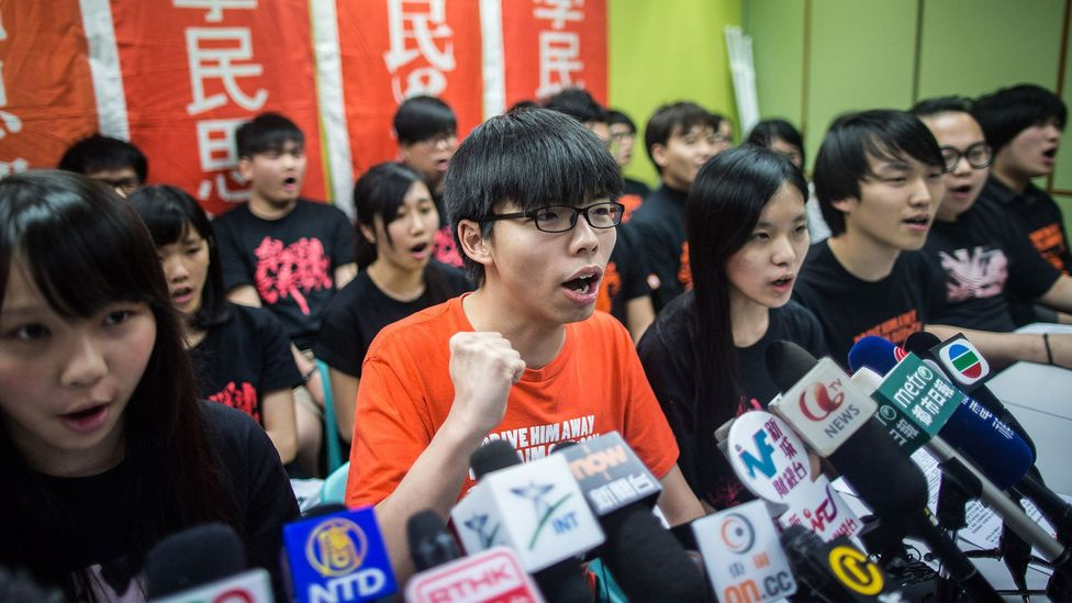 Student protester Joshua Wong has mobilised pro-democracy groups in his native Hong Kong (Credit: Getty Images)