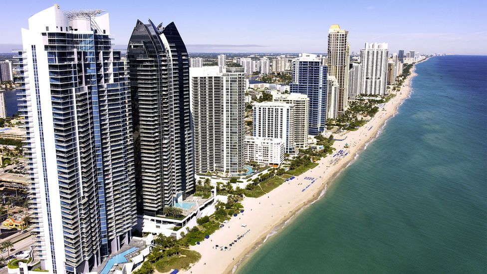 Sunny Isles Beach is home to $10 billion in property, including six Trump-branded buildings (Credit: Alamy)