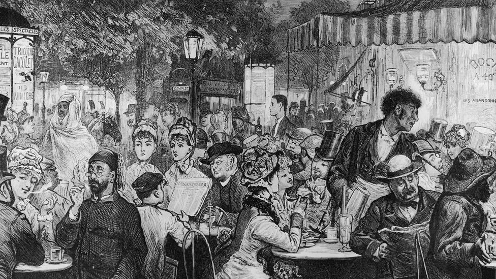 The 'smile revolution' began in 19th Century Parisian coffee houses (Credit: Alamy)