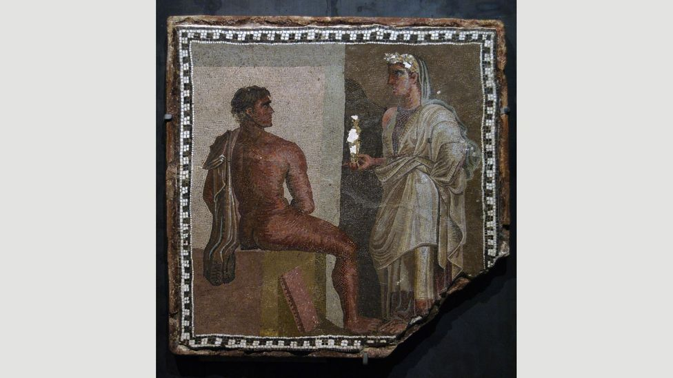 Greek drama also inspired the visual arts in ancient Greece and Rome, such as this mosaic of Orestes from Aeschylus' trilogy The Oresteia (Credit: Alamy)