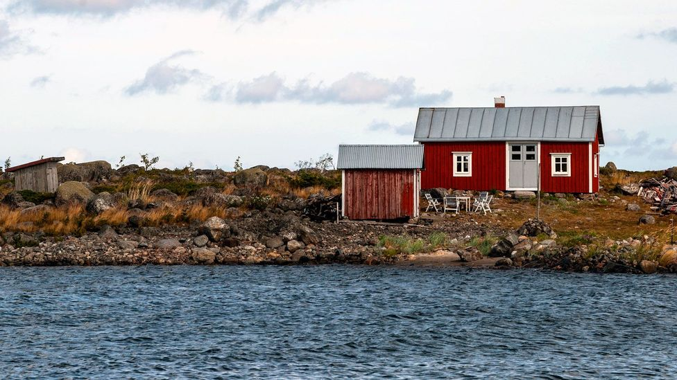 Boathouses were painted with a mixture of seal blubber and natural soil pigments (Credit: Jim O'Donnell)