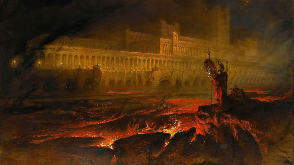 John Martin's 1825 painting depicts Pandemonium, the capital of Hell in Paradise Lost (Credit: Alamy)