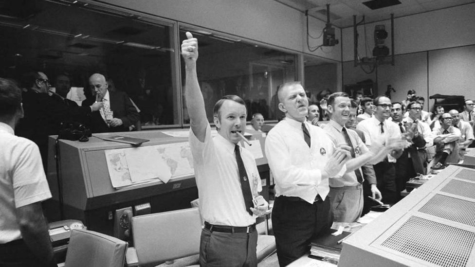 The successful rescue led to scenes of jubilation at mission control (Credit: Nasa)