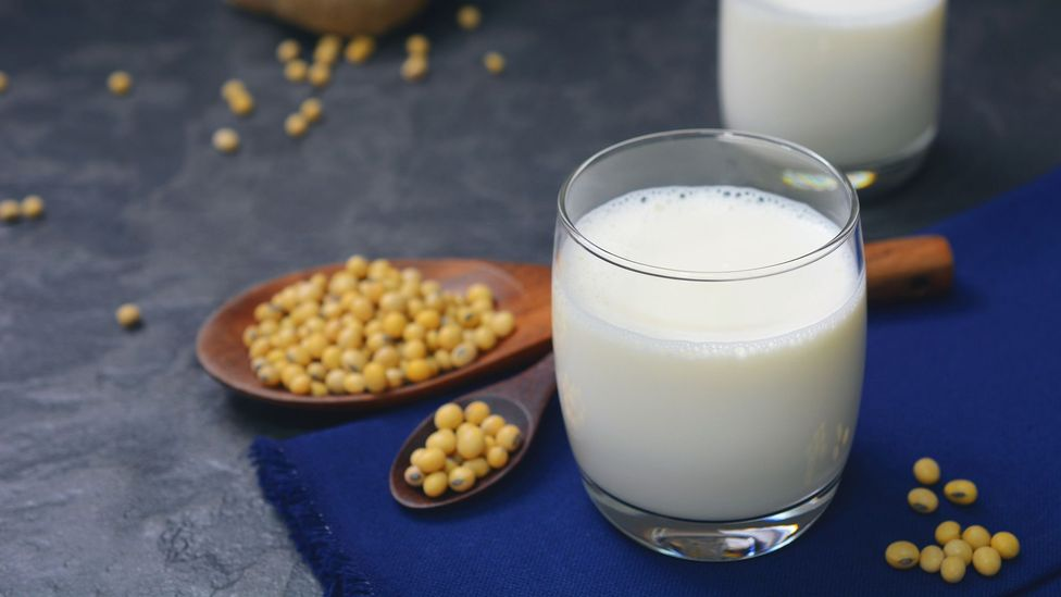 In a recent trial, some people who drank soya milk reported similar clogged-up feelings to those who drank milk (Credit: iStock)