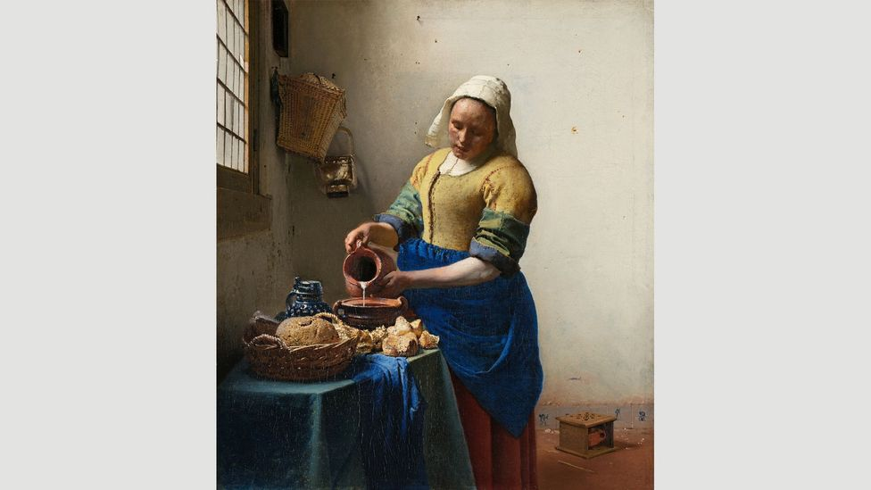 After the Girl with the Pearl Earring, The Milkmaid is perhaps Vermeer's most famous painting – it hangs in the Rijksmuseum in Amsterdam (Credit: Rijksmuseum)