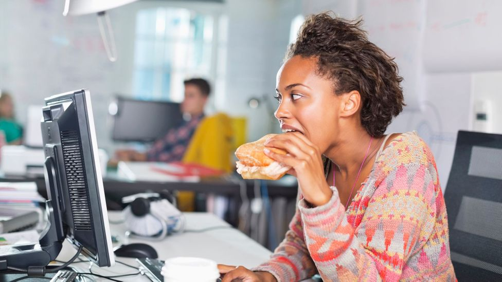 If your colleague munching at her desk drives you mad, it's unlikely the management can do much to change it (Credit: Getty Images)