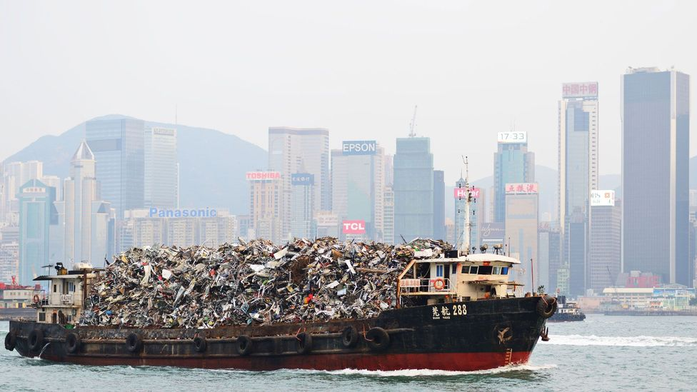 Hong Kong had once exported its waste to mainland China, but recent legislation has meant that it must process its own rubbish (Credit: Alamy)