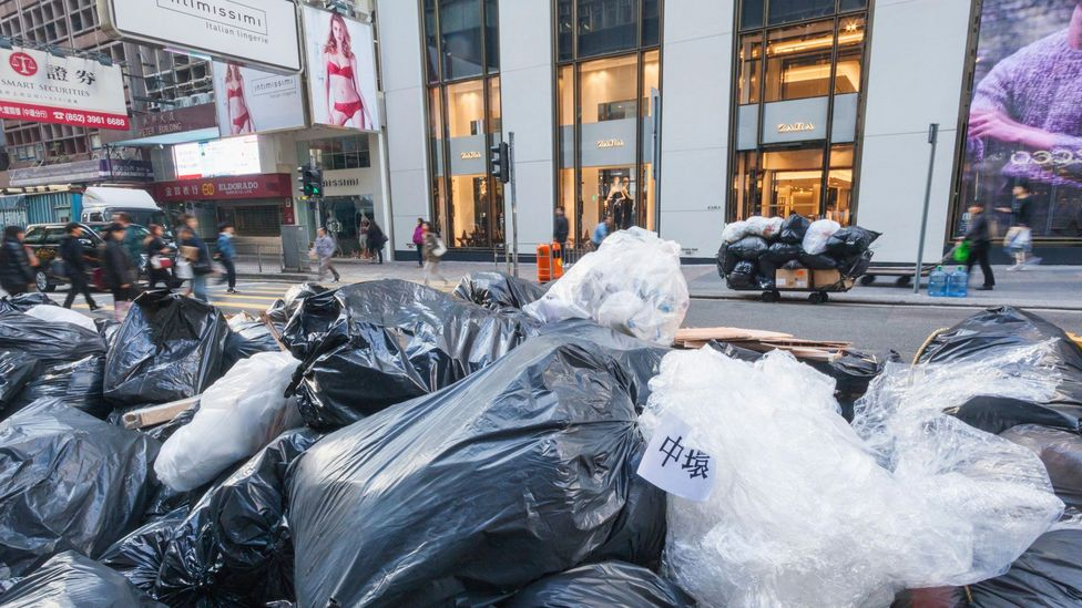 Hong Kong residents may soon have to pay a small fee for every bag of rubbish they dispose (Credit: Alamy)