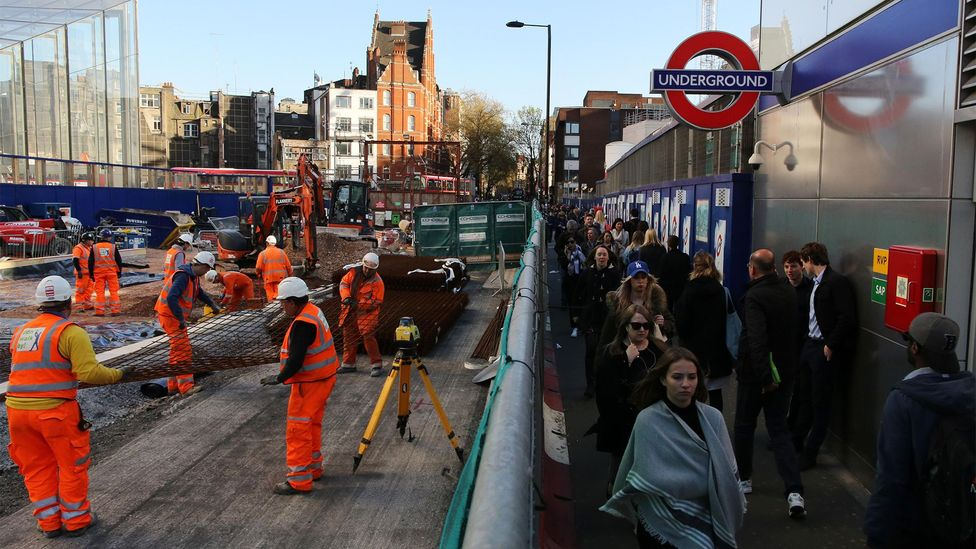 Among the trickiest areas for Crossrail engineers was this one at Tottenham Court Road (Credit: Alamy)