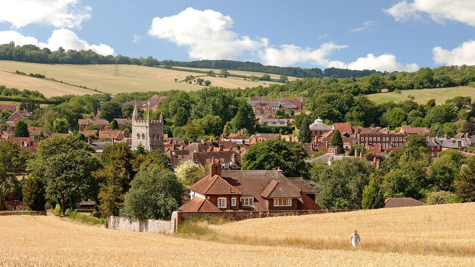 The old town of Amersham, Buckinghamshire is one village that may be put at risk by HS2; the route will skim along its outskirts (Credit: Alamy)