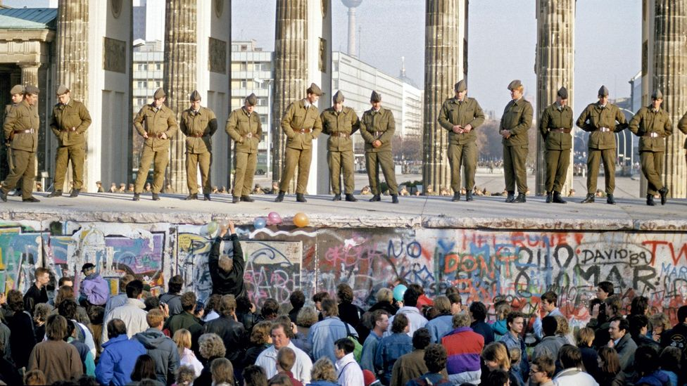 Following the initial rush to tear it down in 1989 there has been an effort preserve parts of the Berlin Wall for historical value (Credit: Alamy)