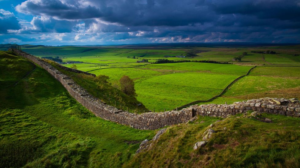 The wall in Game of Thrones is inspired by Hadrian's Wall, which the Roman emperor built to contain the Picts in Scotland (Credit: Alamy)