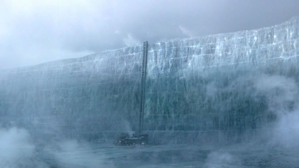 Game of Thrones features a continent-spanning wall designed to keep out the wild people and White-Walker zombies from civilisation (Credit: HBO)