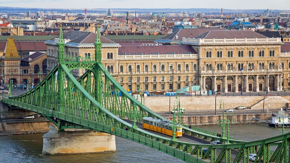 Budapest's historic trams are a popular way to get around the city (Credit: Oleksandr Prykhodko/Alamy)