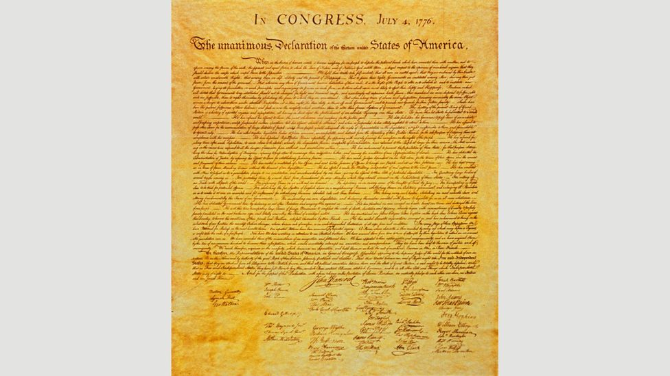 John Hancock was the first to sign the Declaration of Independence as he was president of the Second Continental Congress (Credit: Wikipedia)