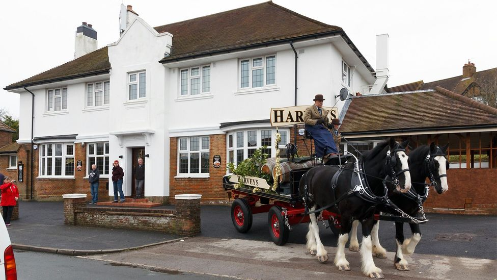In celebration of The Bevendean's re-opening as a cooperative, horses were sent bearing casks of ale (Credit: Alamy)