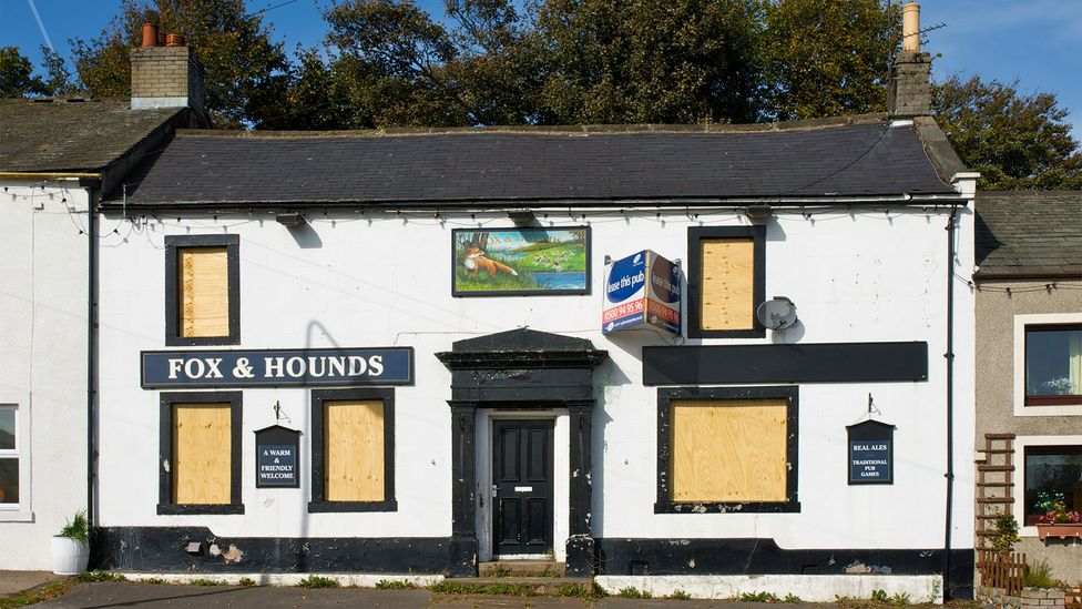 The Fox and Hounds pub shuttered in 2010 – but has remained open ever since it was purchased by the local community the following year (Credit: Alamy)