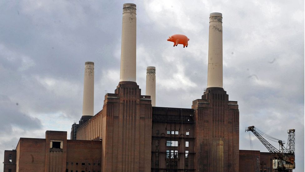 In 2011, the Battersea Power Station scene was reprised for the launch of the band's re-release campaign Why Pink Floyd? (Credit: Alamy)