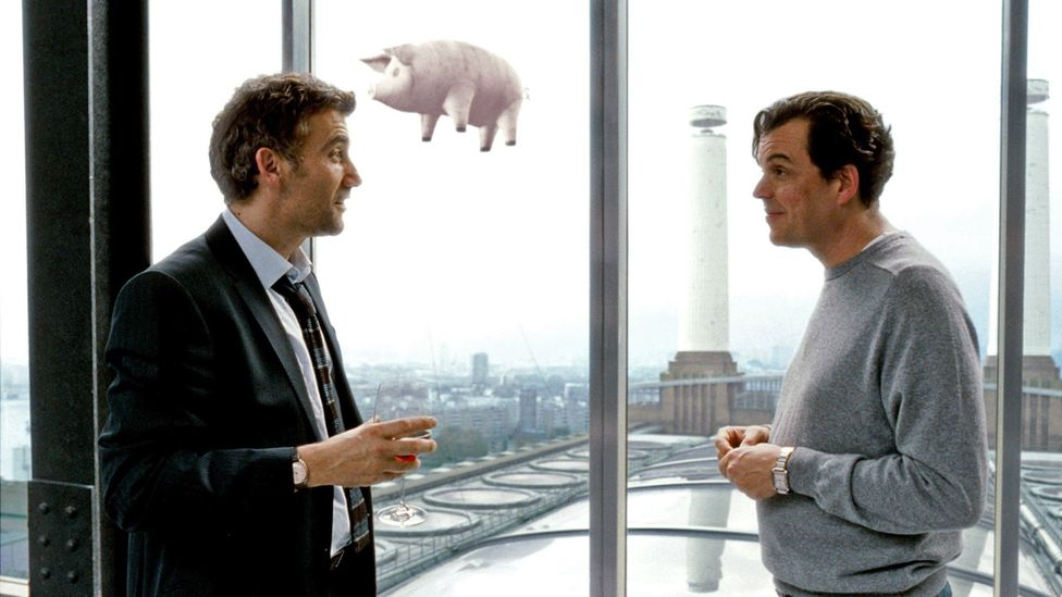 The pink pig gets a particularly dystopian twist in the 2006 film Children of Men, where it is flown over Battersea Power Station yet again (Credit: Alamy)