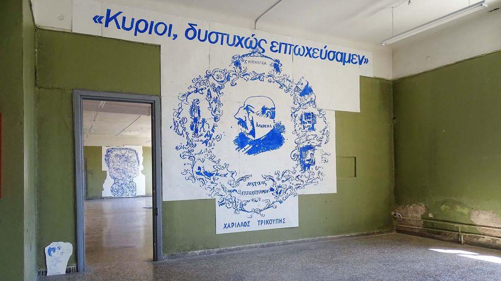 "Elina Kountouri says the Diplarios School is ""representative of Athens"": impressive from the outside but ""rotten"" within (Credit: Stefanos Giannoulis/Neon)"