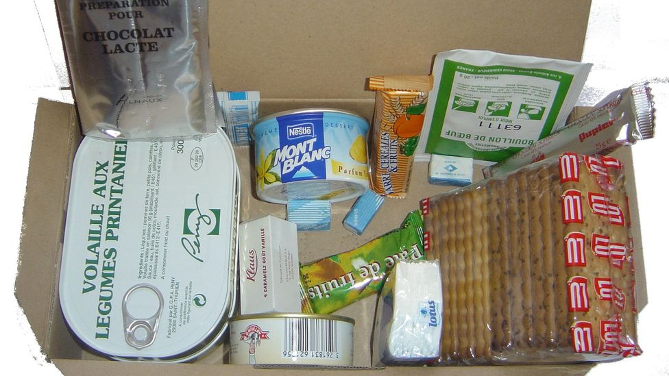 The French ration pack contains some very Gallic ingredients, such as chicken with spring vegetables (Credit:David Monniaux/ Wikimedia CC BY-SA 3.0)