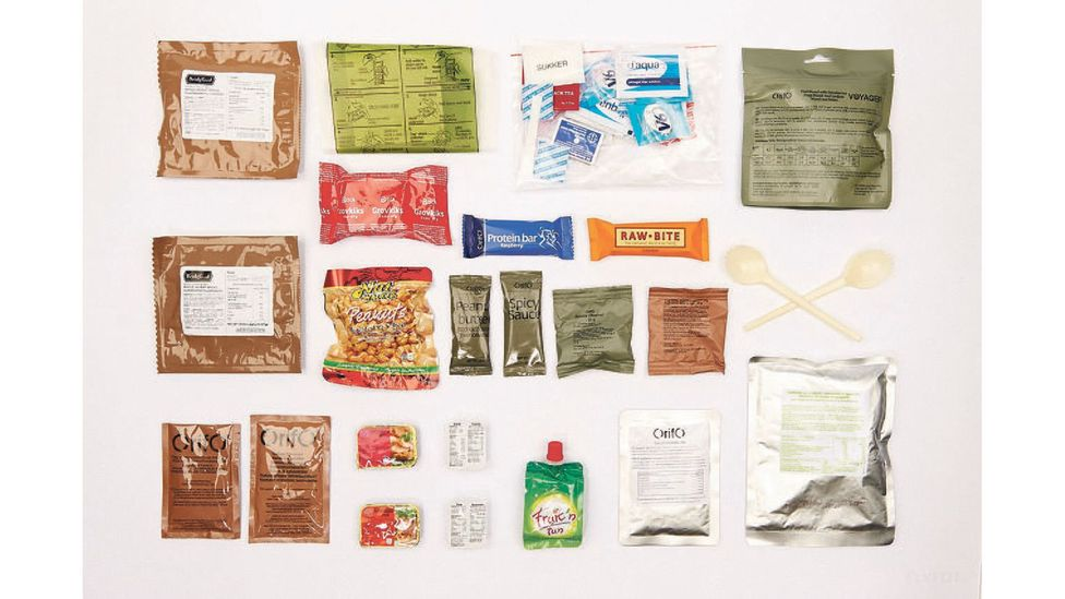 This Danish ration shows the sophisticated nature of modern ration packs (Credit: Flyvevabnets Fototjeneste / Wikimedia CC BY-SA 4.0)