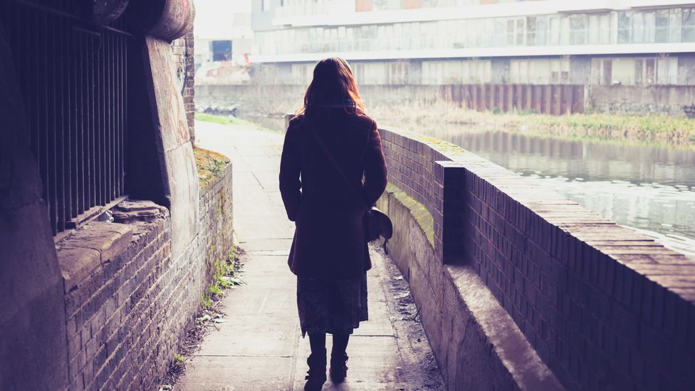 When you're walking along a dark path and turn and notice someone standing there, there's probably a reason why you felt it (Credit: iStock)