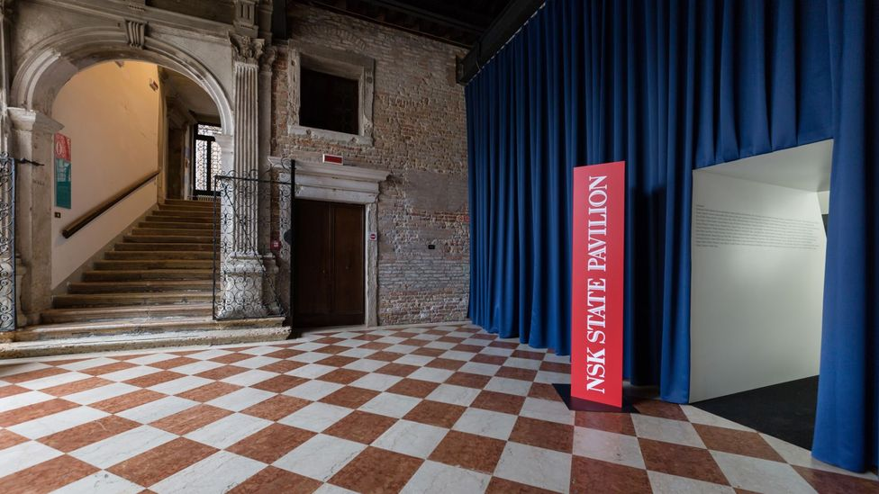 The NSK has its own pavilion at the Venice Biennale, as if it were any other country – they issue passports in an office in the Palazzo Ca'Tron (Credit: Davide Carpenedo)