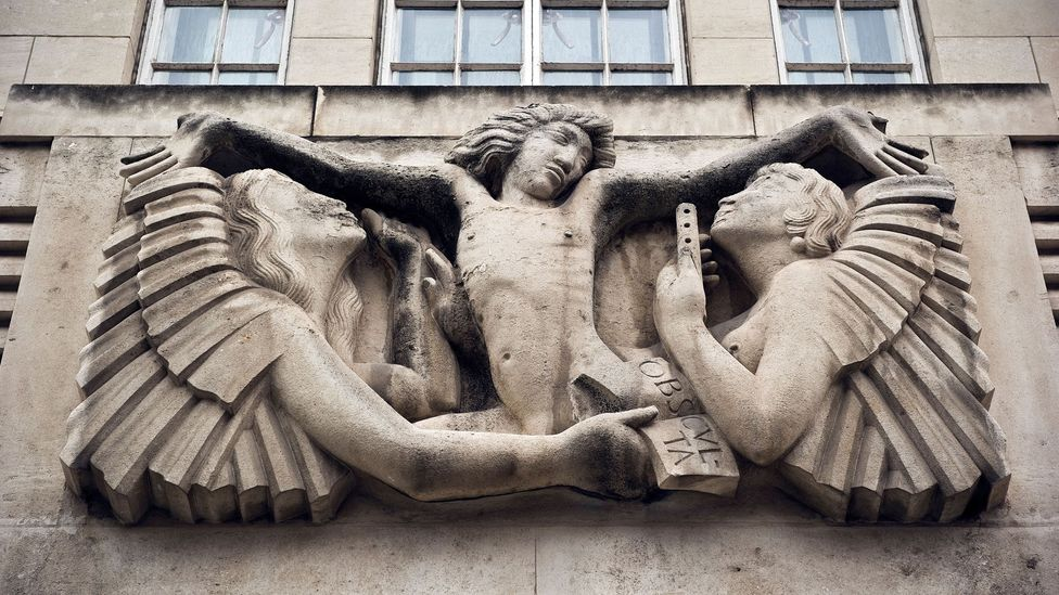 Eric Gill's prints, sculptures and reliefs helped define the Art Deco style – his Prospero and Ariel from 1932 adorns the front of the BBC's Broadcasting House (Credit: Alamy)