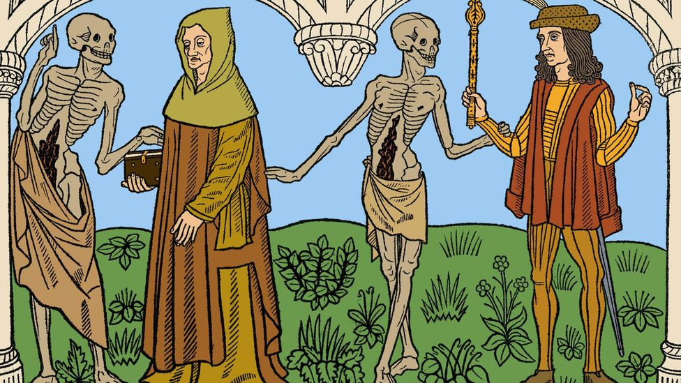 """In the Middle Ages """"there was this connection with death that people had then, that we don't have today"""" – this is from a 1485 edition of the Danse Macabre (Credit: Alamy)"""