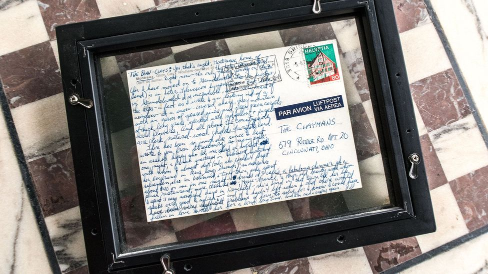 Harby had written about Maïf in a postcard he sent to his friends years earlier (Credit: Bill Harby)