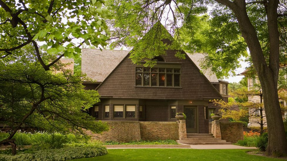 Wright's best known for the homes he designed, including his own abode in Oak Park, Illinois, which he built in 1889 – he would live there for 20 years (Credit: Alamy)