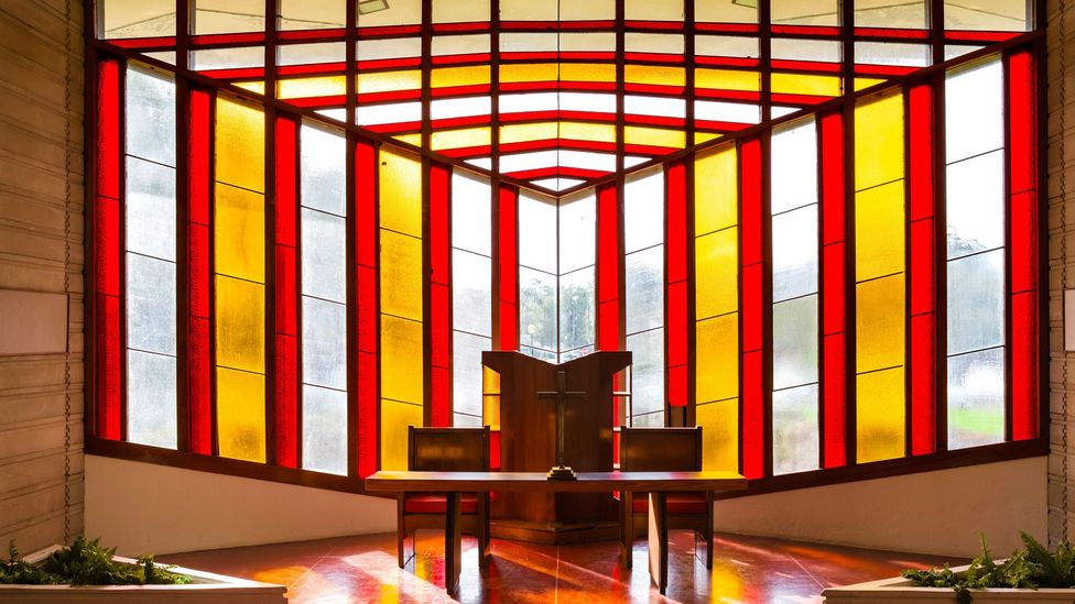 Wright also crafted stained-glass windows throughout his career, including those at Danforth Chapel at Florida Southern College, the campus of which he designed (Credit: Alamy)