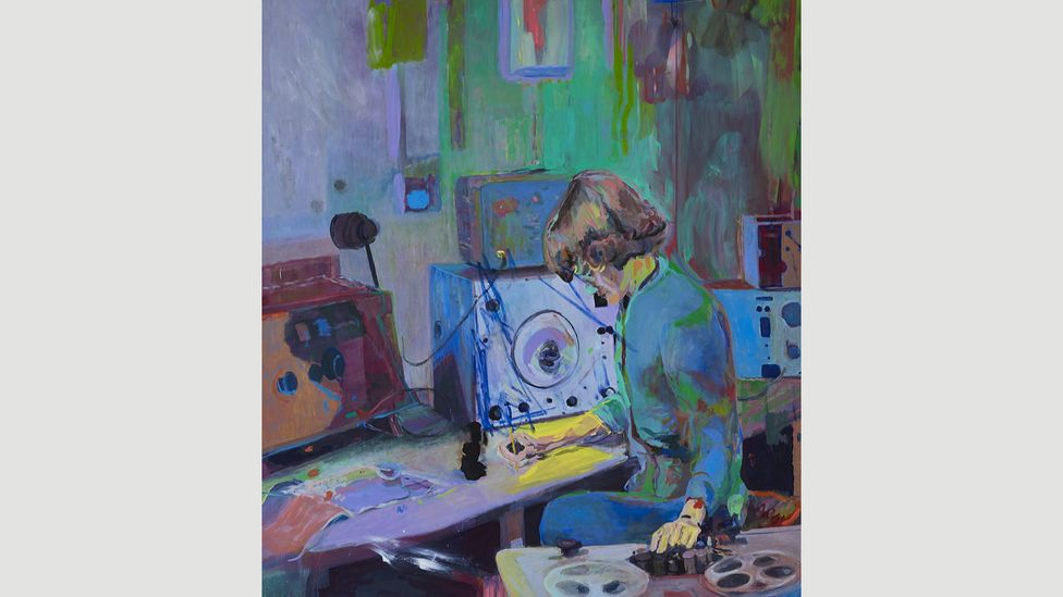 Playwrights Isobel McArthur and Paul Brotherston were inspired by this 2014 painting of Daphne Oram by Victoria Morton (Credit: National Galleries of Scotland/The Artist)