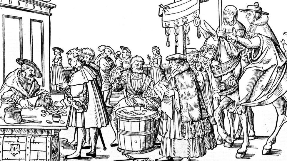 Martin Luther's original protest against the Catholic Church was due to the sale of indulgences – parishioners had their sins absolved if they paid a fee (Credit: Alamy)