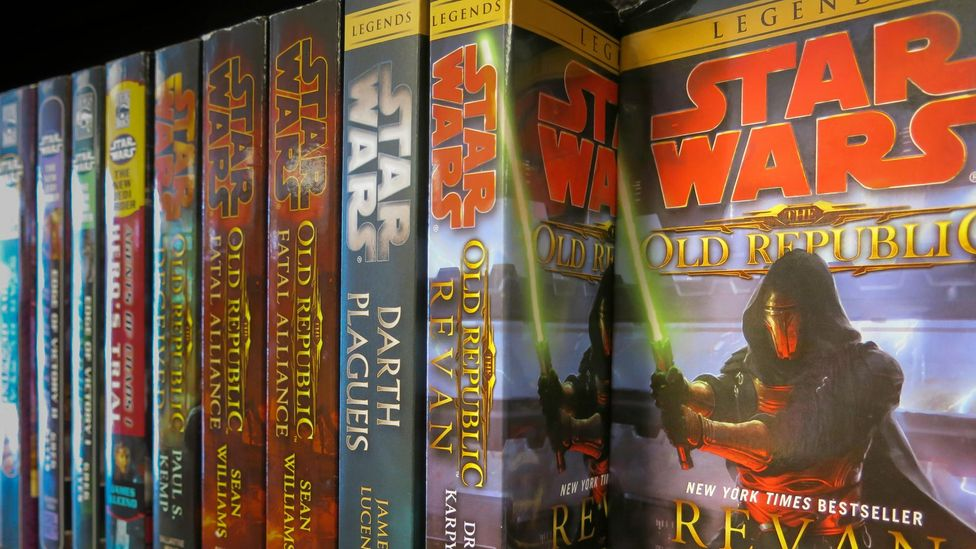 Hundreds of tie-in novels have been authorised by Lucasfilm – some of these explore the history of the galaxy thousands of years before the films (Credit: Alamy)