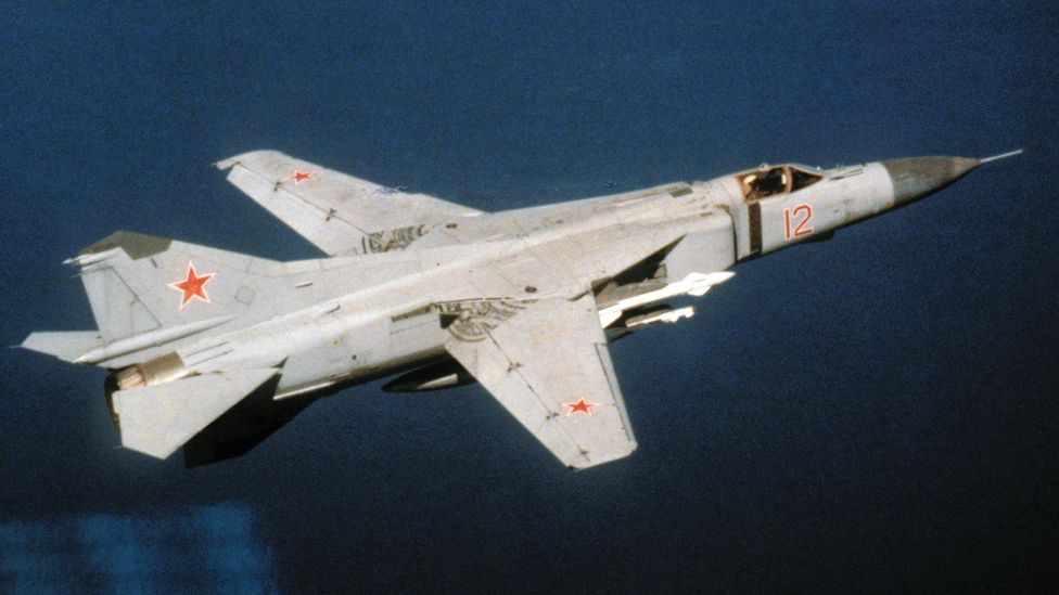 Rust's plane was intercepted by a MiG-23, a swing-wing Soviet fighter - but the pilot's report was ignored (Credit: US DoD)